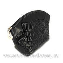 Сумочка жіноча стьобана чорна з бантом 512020 La Prida 18*11*6,5 див., фото 3