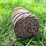 Шнур хлопковый Макраме 5мм Коричневая пастель, фото 2