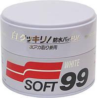 Тверды воск SOFT99 White Super Wax - для светлых авто (очищающая)