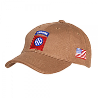 Кепка Baseball Cap 82nd Airborne Tan
