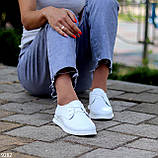 Класичні білі шкіряні жіночі туфлі з натуральної шкіри флотар 36-23,5 см, фото 2