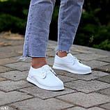 Класичні білі шкіряні жіночі туфлі з натуральної шкіри флотар 36-23,5 см, фото 3