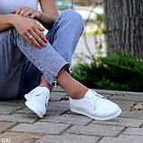 Класичні білі шкіряні жіночі туфлі з натуральної шкіри флотар 36-23,5 см, фото 4