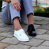 Класичні білі шкіряні жіночі туфлі з натуральної шкіри флотар 36-23,5 см, фото 5