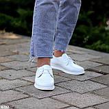 Класичні білі шкіряні жіночі туфлі з натуральної шкіри флотар 36-23,5 см, фото 6