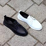 Класичні білі шкіряні жіночі туфлі з натуральної шкіри флотар 36-23,5 см, фото 7
