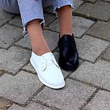 Класичні білі шкіряні жіночі туфлі з натуральної шкіри флотар 36-23,5 см, фото 8