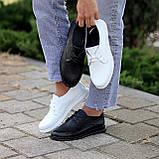 Класичні білі шкіряні жіночі туфлі з натуральної шкіри флотар 36-23,5 см, фото 9