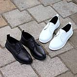 Класичні білі шкіряні жіночі туфлі з натуральної шкіри флотар 36-23,5 см, фото 10