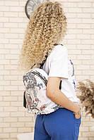Рюкзак женский цвет черно-красный размер one size SKL87