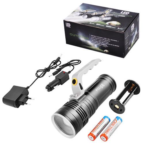 Ліхтар переносний Poliсe S911-XPE, ЗУ 220V/12V, 2x18650, zoom, Box