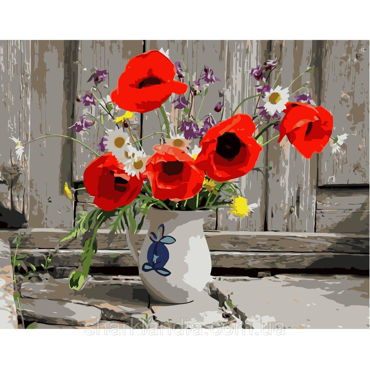 Картина по номерам Букет с домашнего сада 40х50см Strateg Цветы Раскраска по цифрам