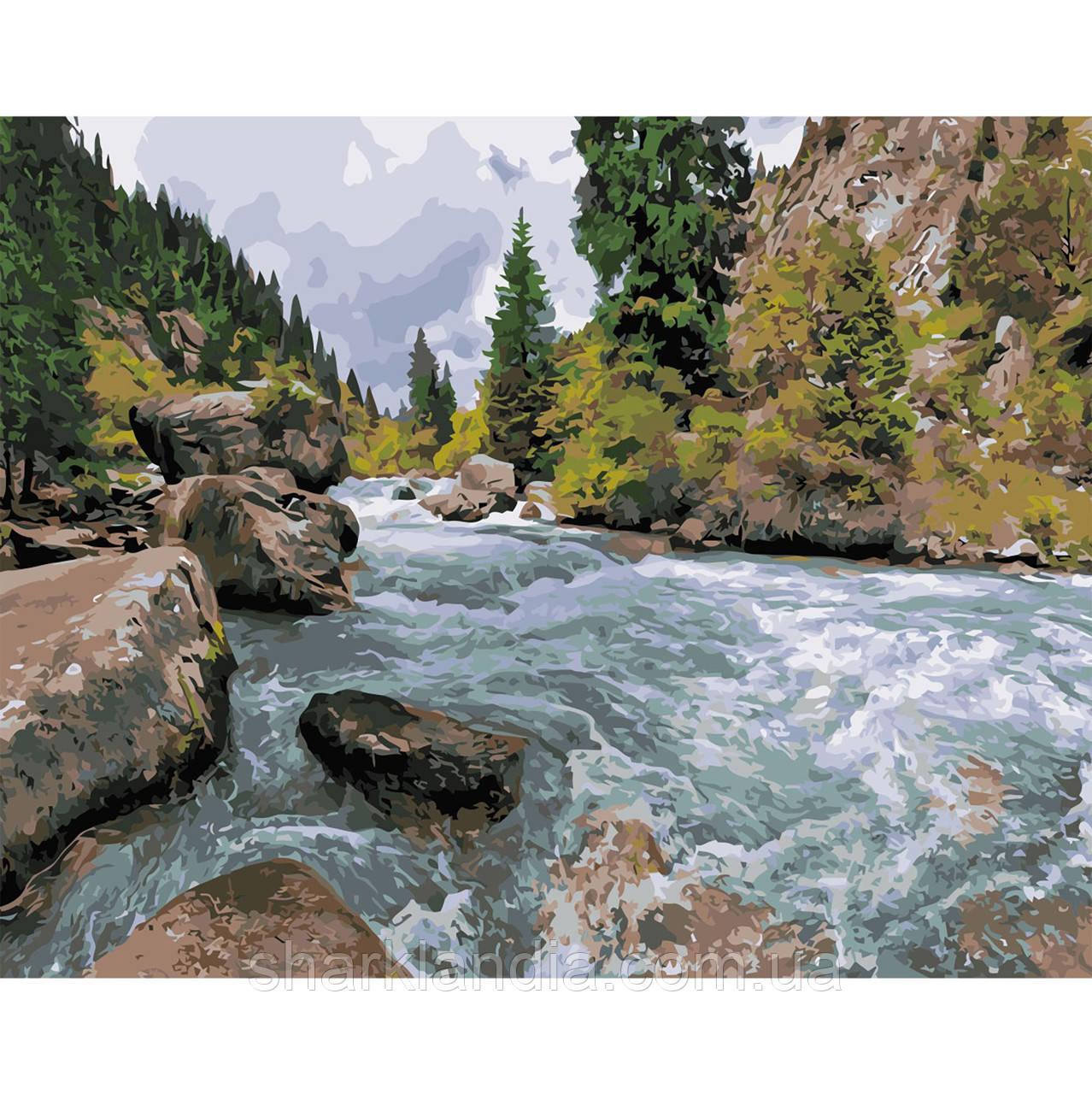 Картина по Номерам Река в лесу 40х50см Strateg