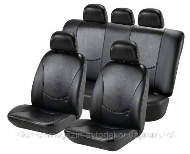 Чохли на сидіння, кожзам H&R Кобра (Ізраїль), чорна
