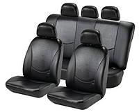 Чехлы на сиденья, кожзам H&R Кобра (Израиль), черная