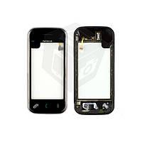 Touchscreen (сенсорный экран) для Nokia N97 Mini, с передней панелью, оригинал(черный)