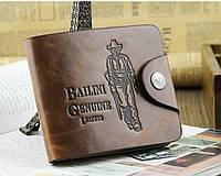 Мужской кошелек портмоне Bailini Genuine, стильное портмоне Bailini Genuine, бумажник мужской