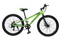 Горный Велосипед CrossBike Blast RIGID Подростковый колеса 26 дюймов, рама 11 дюймов, 13.2кг - Неоновый