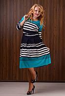 """Стильное платье для пышных дам """" Полоски """" Dress Code, фото 1"""