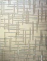 Скло візерункове Лабіринт бронза з прирізкою в розмір