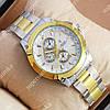 Модные наручные часы Rolex Quartz 030G Silver-gold/Silver 20015