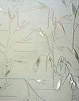 Скло візерункове Басак бронза з прирізкою в розмір