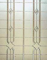 Стекло узорчатое Кылым бесцветное с прирезкой в размер