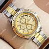 Яркие наручные часы Rolex Quartz 024 Silver-gold/Gold 20018