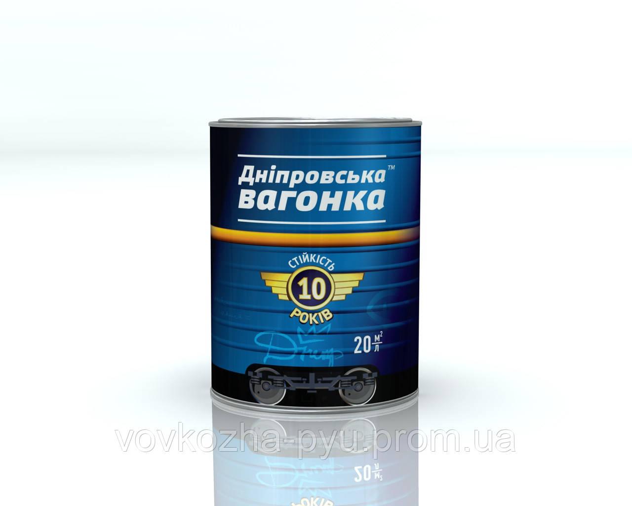 Эмаль Днепровская Вагонка ПФ-133 темно серый лак 0.85 кг