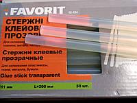 Клеевые стержни прозрачные FAVORIT 12-124, 11 мм