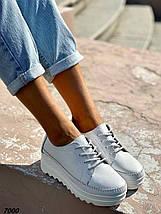 Кроссовки женские кожаные цвет белый демисезон, фото 3