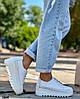 Кроссовки женские кожаные цвет белый демисезон, фото 4