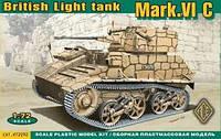 Сборная модель танка Mark.VI C 1\72  ACE