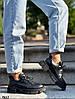 Туфли женские черные натуральная кожа демисезонные низкий ход, фото 5