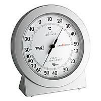 Термогигрометр аналоговый TFA superEXsensor Silver 112*40*120 мм