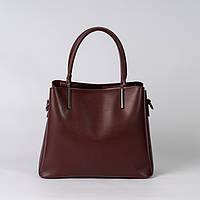Сумка бордова жіноча саквояж стильна ділова сумка шоппер екошкіра для ділових леді, фото 1