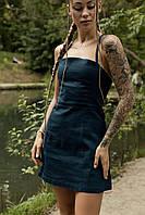 Сукня жіноча сарафан смарагдовий Line. Жіноче плаття-сарафан смарагдового кольору.