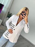 Приталенный женский пиджак в деловом стиле, фото 1