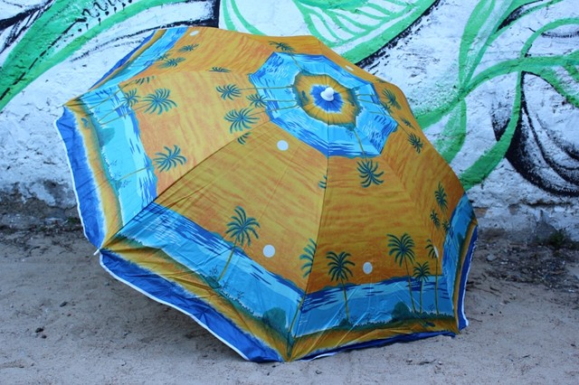 """Большой пляжный зонт 1.8 м с механизмом наклона """"Пальма"""""""