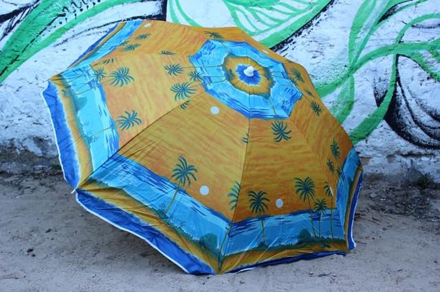 """Большой пляжный зонт 1.8 м с механизмом наклона """"Пальма"""" оптом Одесса 7км"""