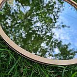 Комплект заготовок для виготовлення дзеркала в техніці макраме 35см, фото 3