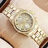 Аналоговые наручные часы Rolex Quartz diamond Gold 20026