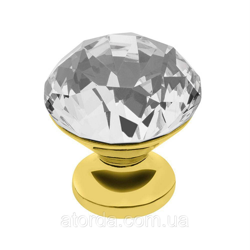 Ручка меблева GTV Crystal Palace D=30 мм Золото/Кристал (GZ-CRPB30-03)