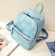 Жіночий стильний міні рюкзак ПУ шкіра Aliri-00062 бірюзовий
