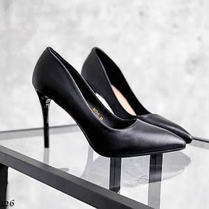 Лодочки черные каблук шпилька