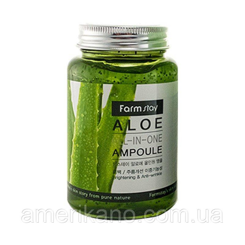 Ампульная сыворотка с алое FarmStay Aloe All-In One Ampoule, 250 мл. Корея