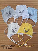 Тонкі дитячі шапки  0-3-6 міс. Опт