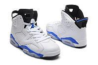 Баскетбольные кроссовки Nike Air Jordan 6 white-blue