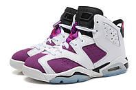 Женские баскетбольные кроссовки Nike Air Jordan 6 white-violet