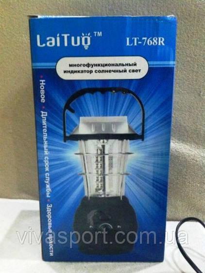 Яркий кемпинговый фонарь 5 в 1 с радиоприемником  Lai Tuo LT-768R